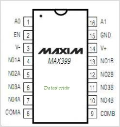 MAX399ESE-T pinout,Pin out