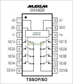 MAX4639 pinout,Pin out