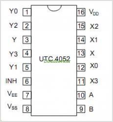 UTC4052 pinout,Pin out