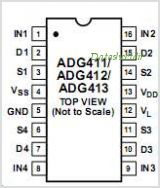 ADG413 pinout,Pin out