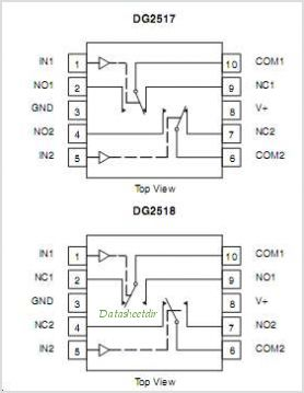 DG2517 pinout,Pin out
