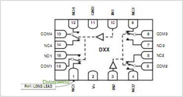 DG2706DN-T1-E4 pinout,Pin out