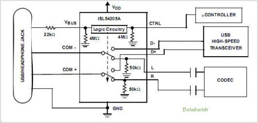 Isl54205airz t datasheet pinout application circuits mp3usb 20 isl54205airz t circuits sciox Image collections
