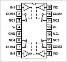 ISL84521IBZ-T pinout,Pin out