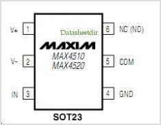 MAX4510 pinout,Pin out