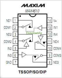MAX4610 pinout,Pin out