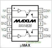 MAX4636 pinout,Pin out