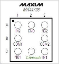 MAX4723 pinout,Pin out
