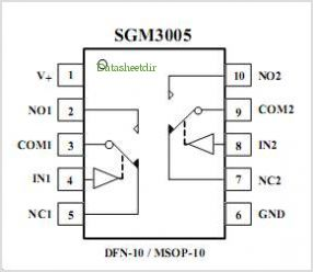 SGM3005 pinout,Pin out