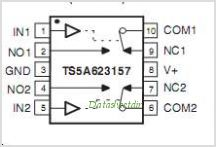 TS5A623157 pinout,Pin out