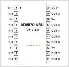AD8570 pinout,Pin out