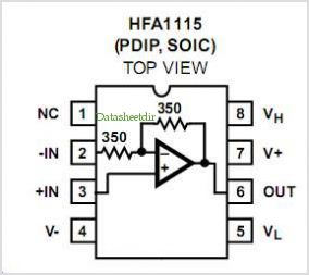 HFA1115 pinout,Pin out
