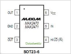 MAX2470 pinout,Pin out