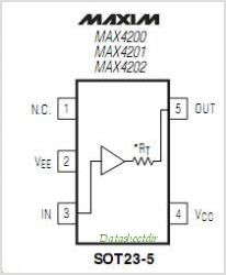 MAX4202 pinout,Pin out