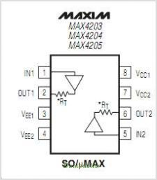 MAX4205 pinout,Pin out