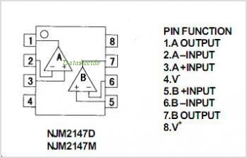 NJM2147 pinout,Pin out