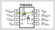 THS3092 pinout,Pin out