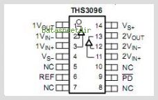 THS3096 pinout,Pin out