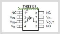 THS3111CDG4 pinout,Pin out