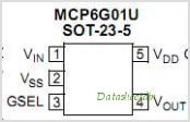 MCP6G01U pinout,Pin out
