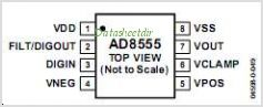 AD8555 pinout,Pin out