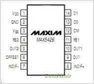MAX5426 pinout,Pin out