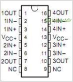 TLE2084A pinout,Pin out