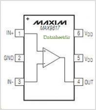 MAX9617 pinout,Pin out