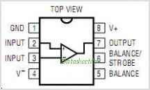 LT1011CN8-PBF pinout,Pin out