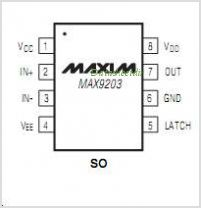 MAX9203EKAT pinout,Pin out