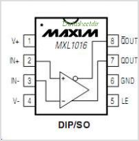 MXL1016IN8 pinout,Pin out