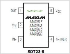 MAX917 pinout,Pin out