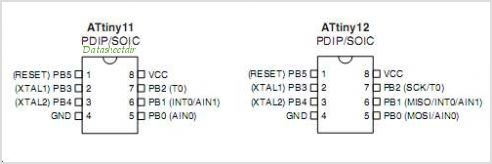 ATTINY12 pinout,Pin out