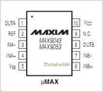 MAX9053B pinout,Pin out