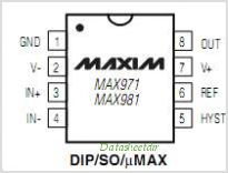 MAX971CSA-T pinout,Pin out