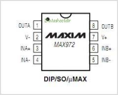 MAX972 pinout,Pin out