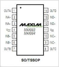 MAX994ESD pinout,Pin out