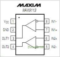 MAX9113 pinout,Pin out