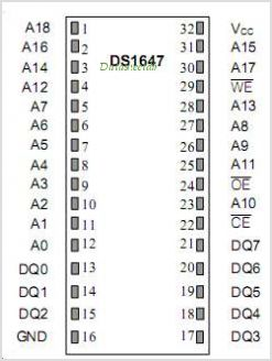 DS1647 pinout,Pin out