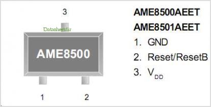 AME8501 pinout,Pin out