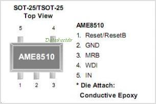 AME8520AEEVEFE42 pinout,Pin out