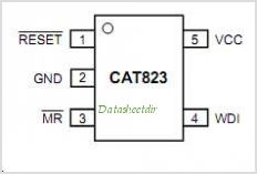 CAT823 pinout,Pin out