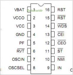 DS1238 pinout,Pin out