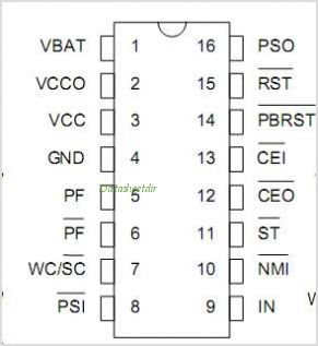 DS1239 pinout,Pin out