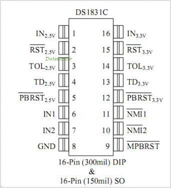 DS1831C pinout,Pin out