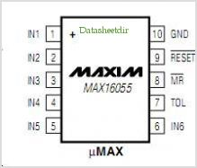 MAX16055 pinout,Pin out