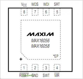 MAX16058ATA43-T pinout,Pin out