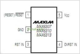 MAX6307 pinout,Pin out