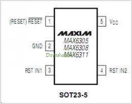 MAX6308 pinout,Pin out