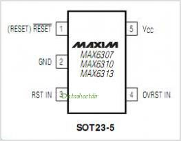MAX6313 pinout,Pin out